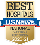 U.S. News and World Report Ranking Best Hospitals ranking 2020-2021 Cardiology & Heart Surgery