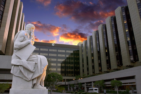 Moses statue on Cedars-Sinai Medical Center campus