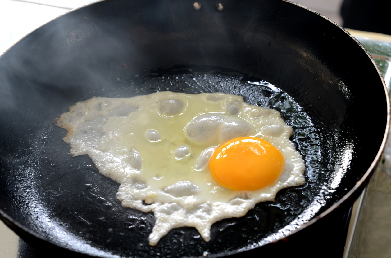 Fried egg in bacon grease.