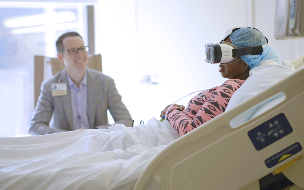 Dr. Brennan Spiegel uses VR in patient treatment