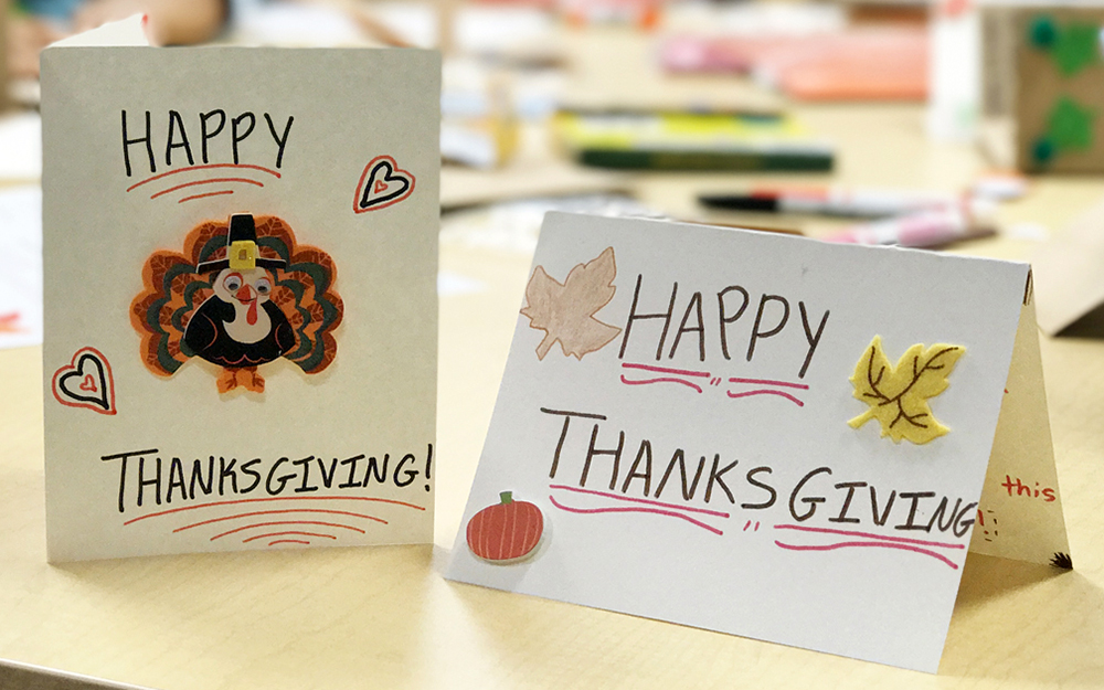 Teen Volunteer, Thanksgiving, holiday cards, Cedars-Sinai