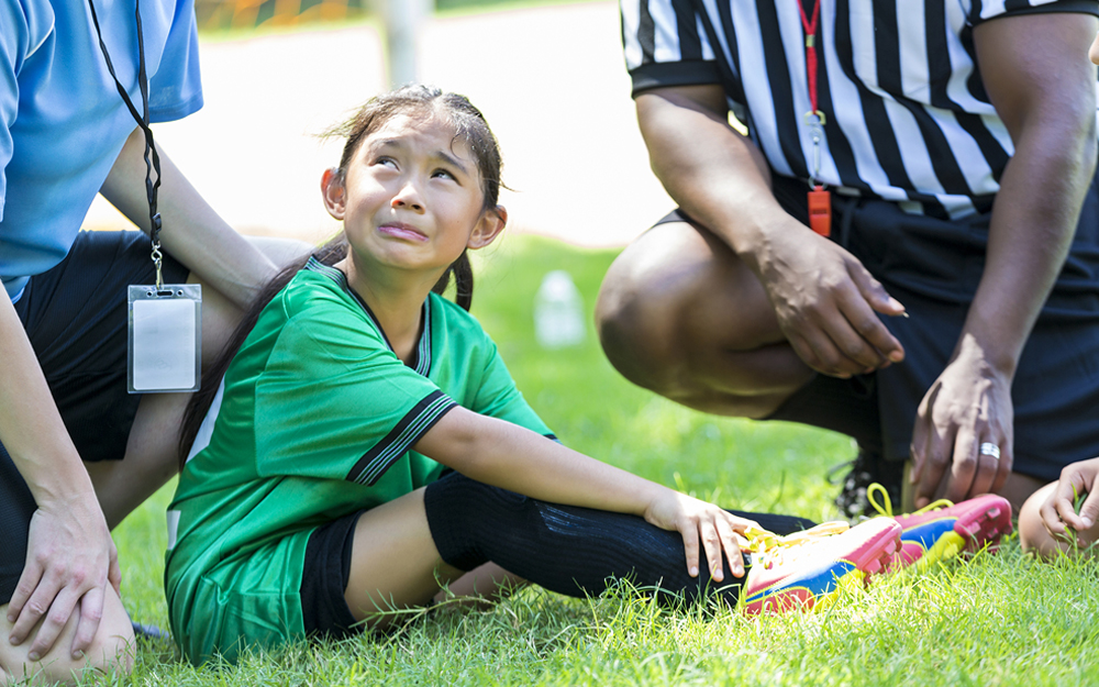 soccer, injury, young girl, hurt, sports