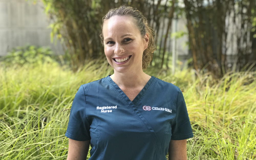 Cedars-Sinai, Cancer Nurse, Angela Schleuniger, faces of Cedars-Sinai