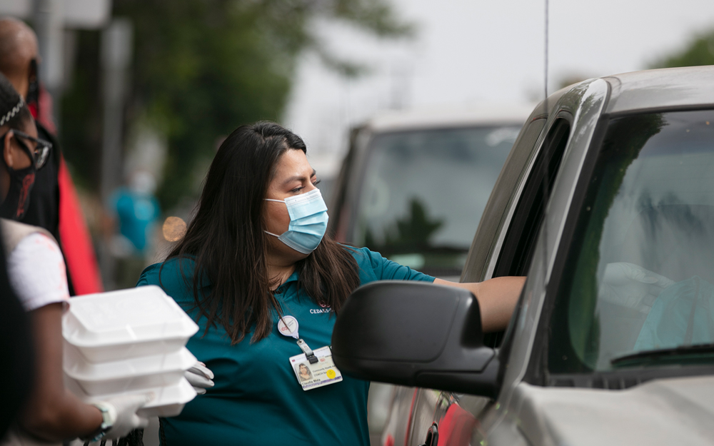 Cedars-Sinai Partners Provide COVID-19 Relief for Vulnerable Angelenos